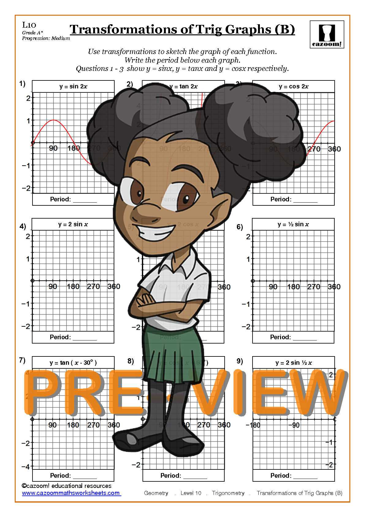 math worksheet : trigonometry  cazoom maths worksheets : Math Worksheets Trigonometry