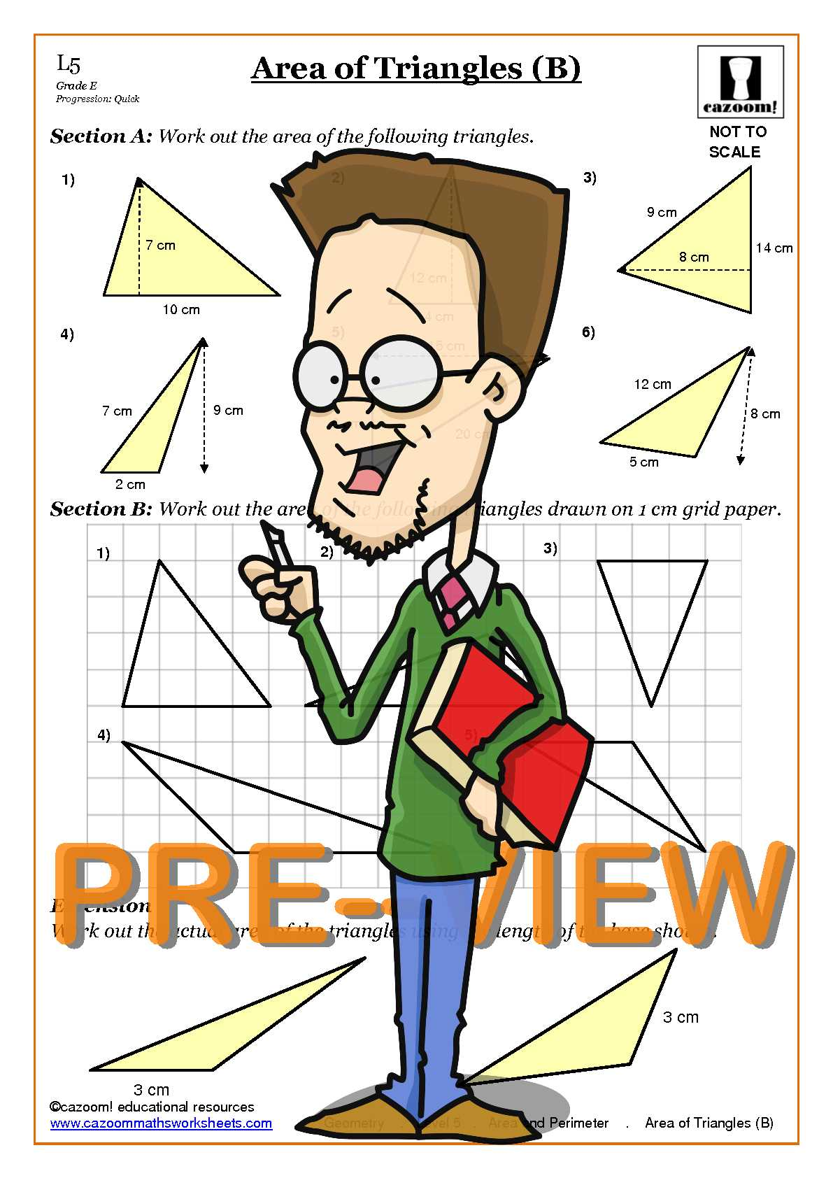 Area and perimeter triangles worksheets free