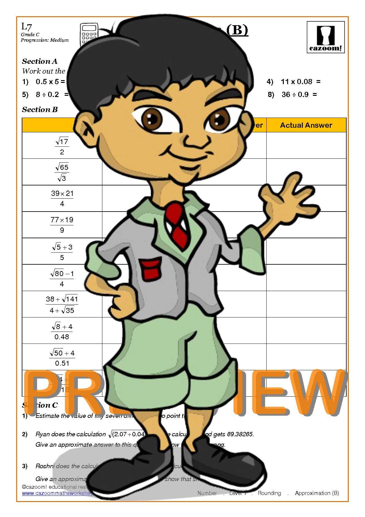 Rounding decimals worksheets ks3