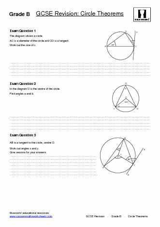 Gcse Maths Worksheets Gcse Maths Revision Worksheets Cazoom