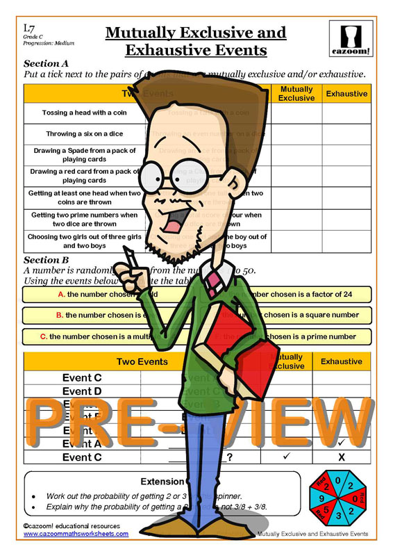 probability worksheets ks3 ks4 probability tree questions answers. Black Bedroom Furniture Sets. Home Design Ideas