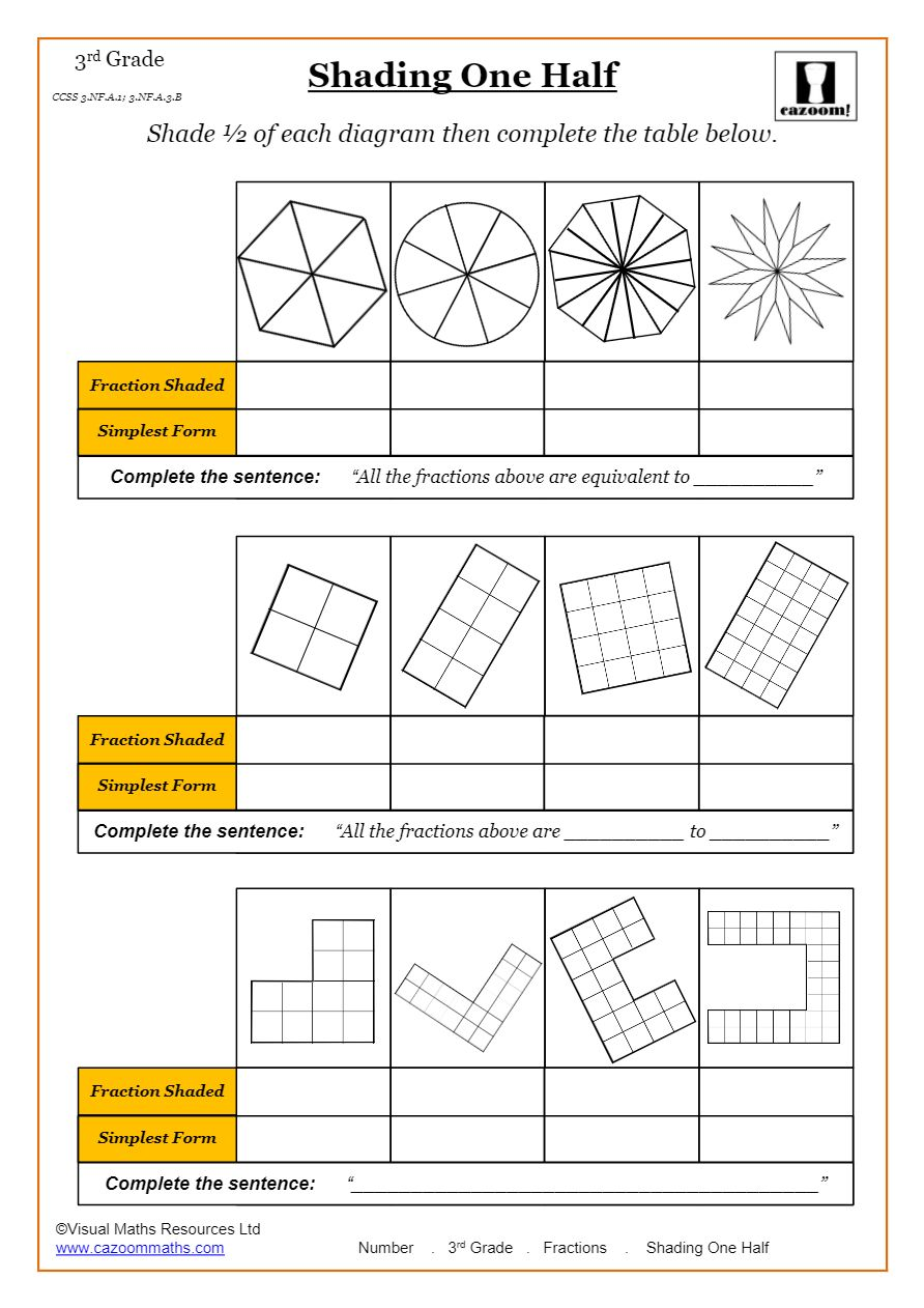 Free Math Worksheets Common Core Aligned Printable