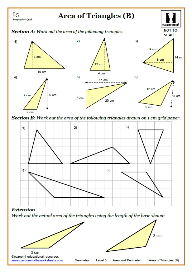 Area Worksheets KS3 : Perimeter Area Worksheets : Area of ...