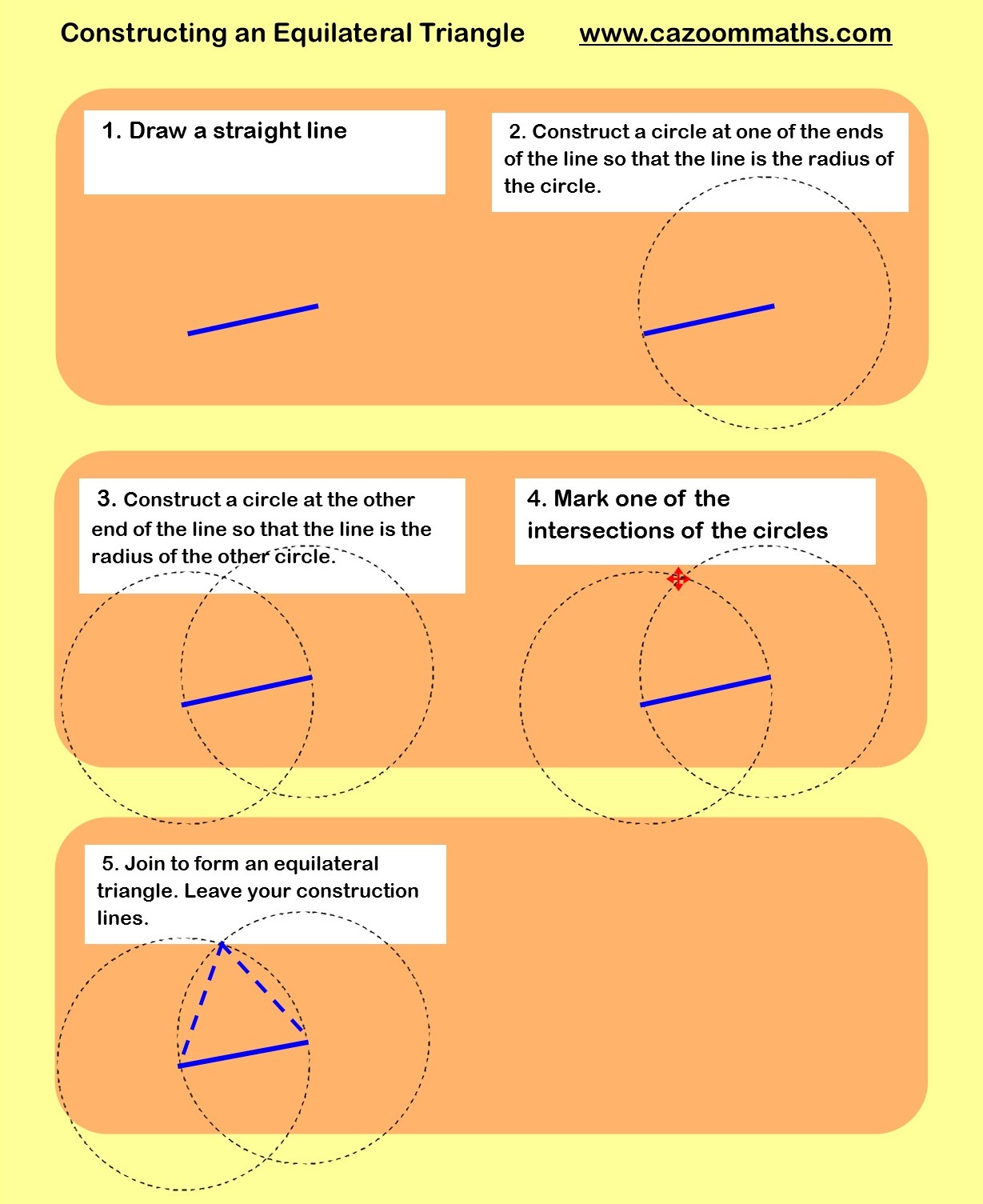 Constructions – Constructing Triangles Worksheet