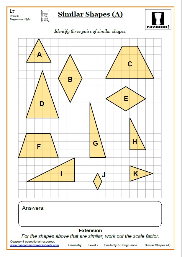 Congruence Maths Worksheet