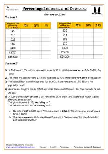 math worksheet : great maths worksheets  free resources new and differentiated : Maths Worksheets Percentages